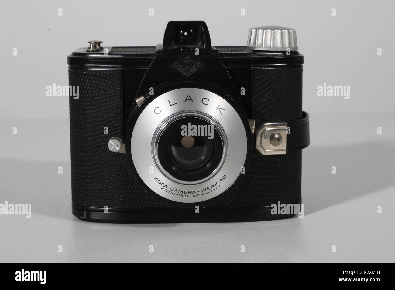 Kamera, Fotoapparat, fotografieren, historisch, Foto, Agfa, Clack, historisch, Rollfilm - Stock Image