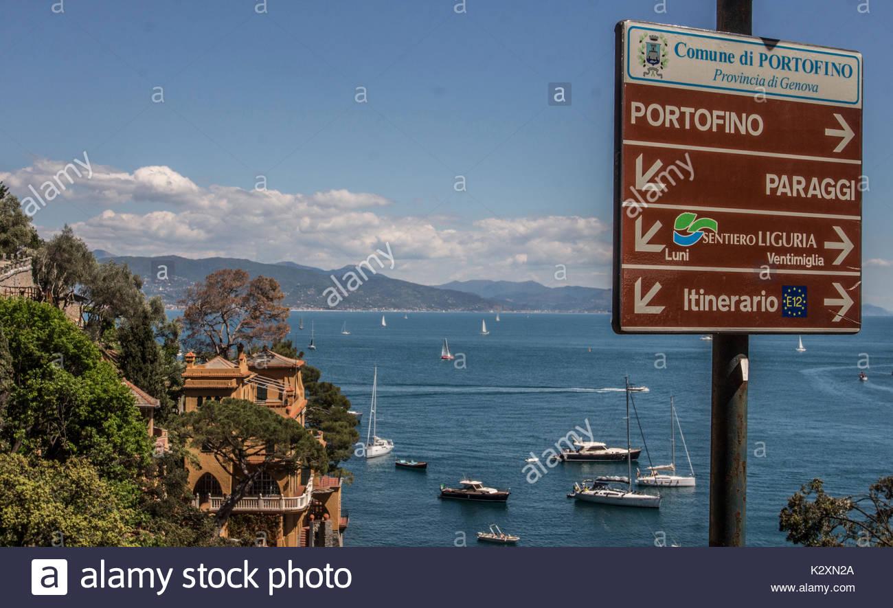 portofino, liguria, italy - Stock Image
