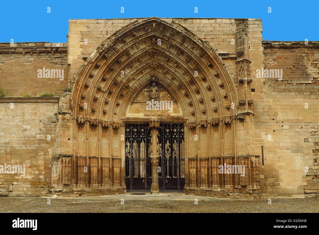 Lleida, Lerida, Spanien, Katalonien, La Seu Vella, Kirche - Stock Image