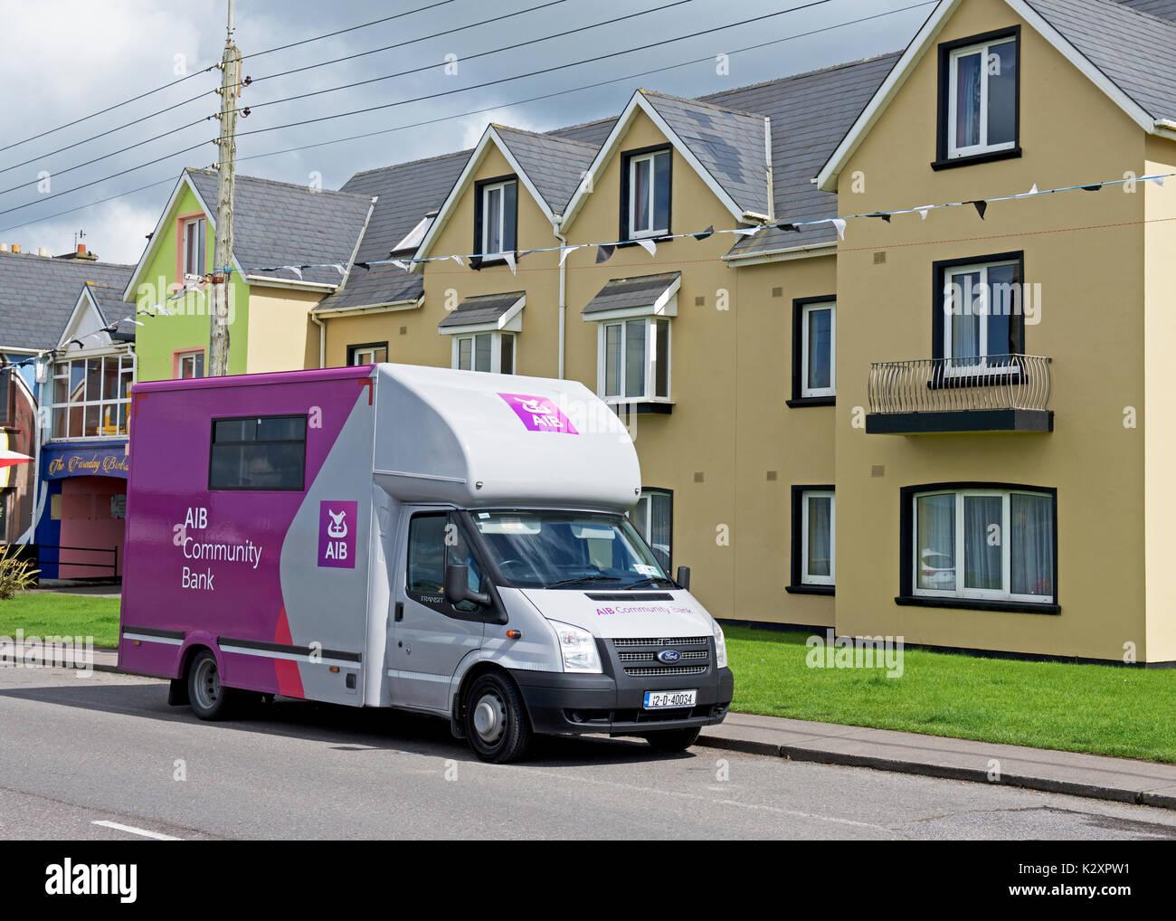 AIB mobile bank, Southern Ireland - Stock Image