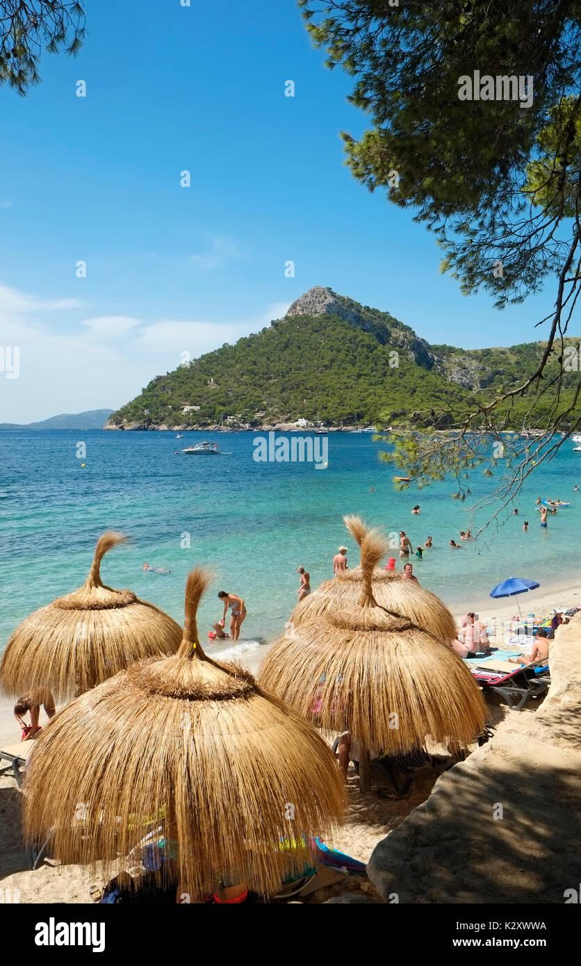 Cap Formentor Beach Majorca Mallorca Balearic Island Spain Espana EU European Union Europe - Stock Image