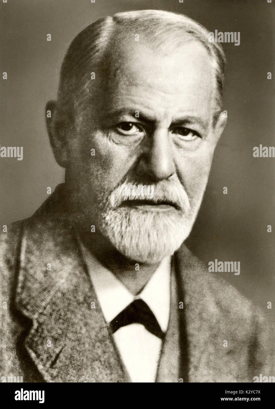 Sigmund Freud, founder of psychoanalysis. born Moravia, 1856-1939. Stock Photo