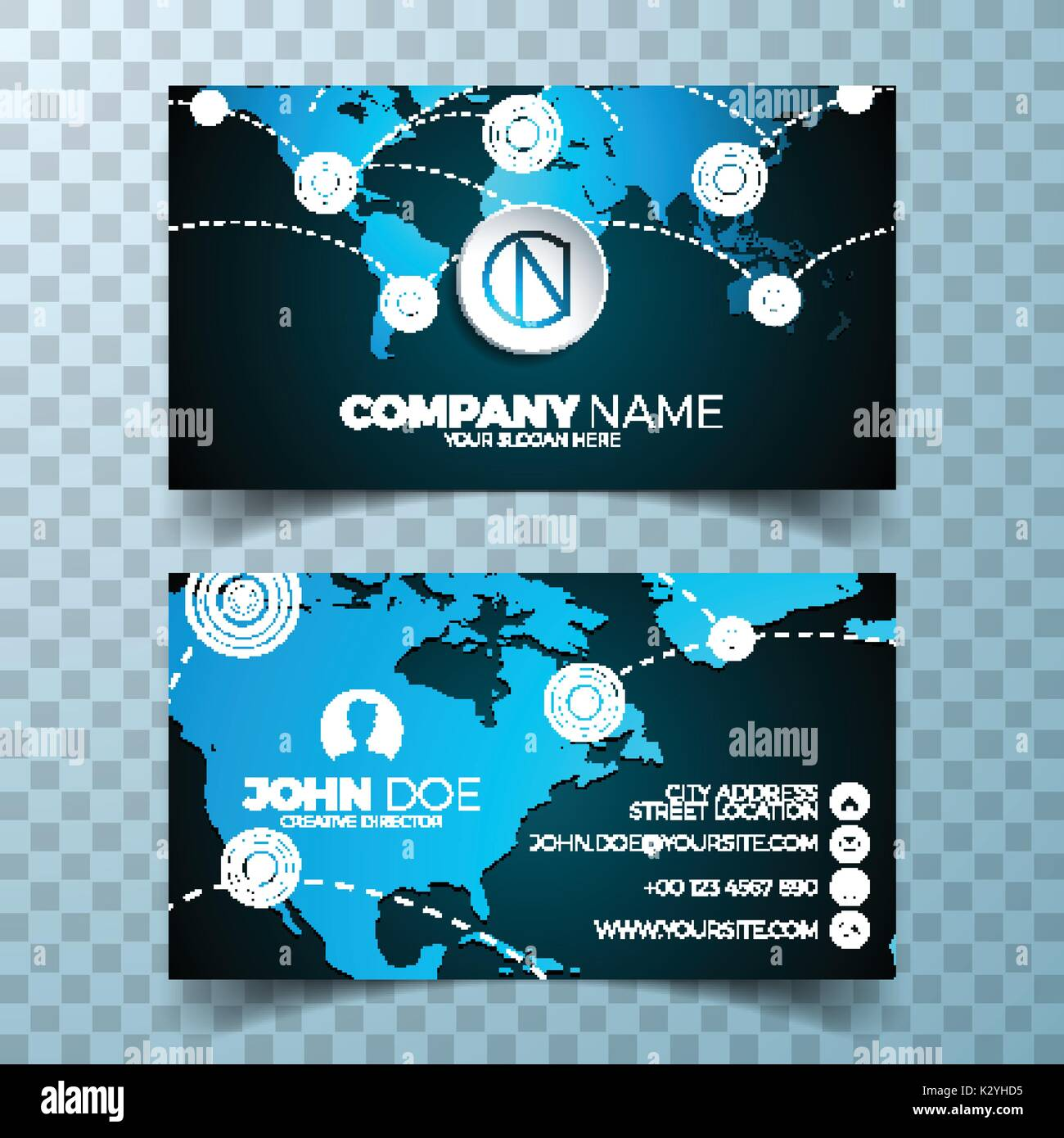 Vector modern business card design template with world map ... on wedding maps, social media maps, wallpaper maps, business map maker, full page maps, business cards old world, envelope maps, tract maps,