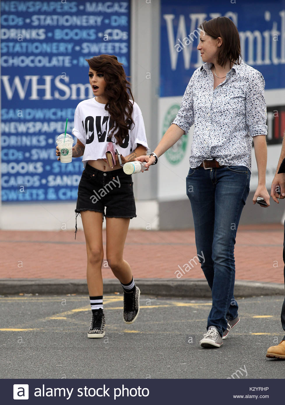 cher lloyd cher lloyd spotted at a motorway service station with a stock photo 156733858 alamy. Black Bedroom Furniture Sets. Home Design Ideas