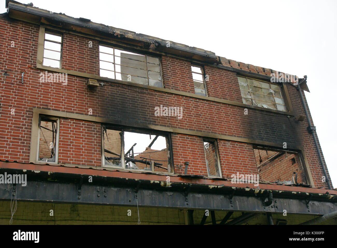 derelict commercial building Stock Photo