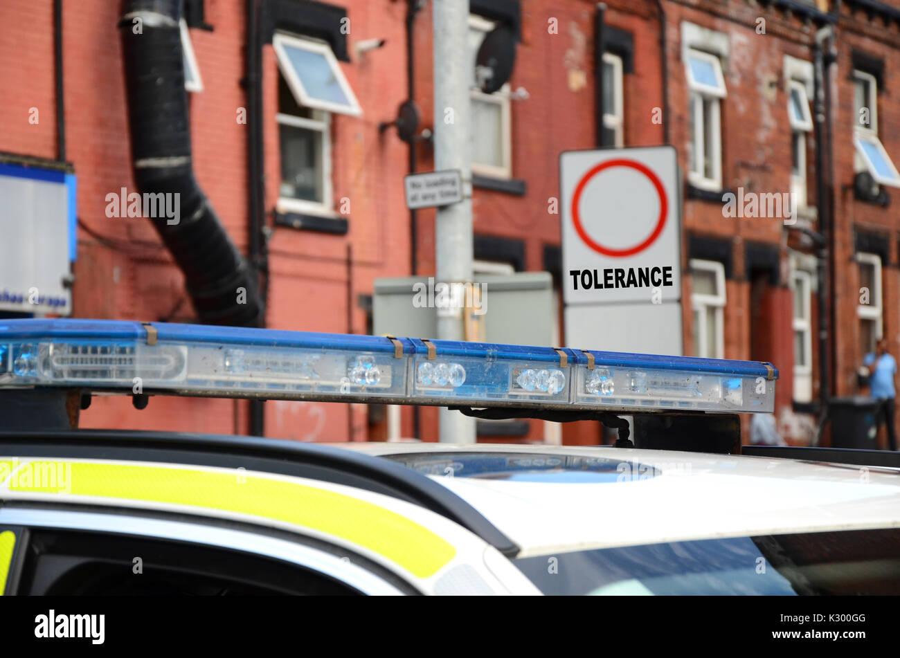 zero tolerance policing, Knife crime - Stock Image