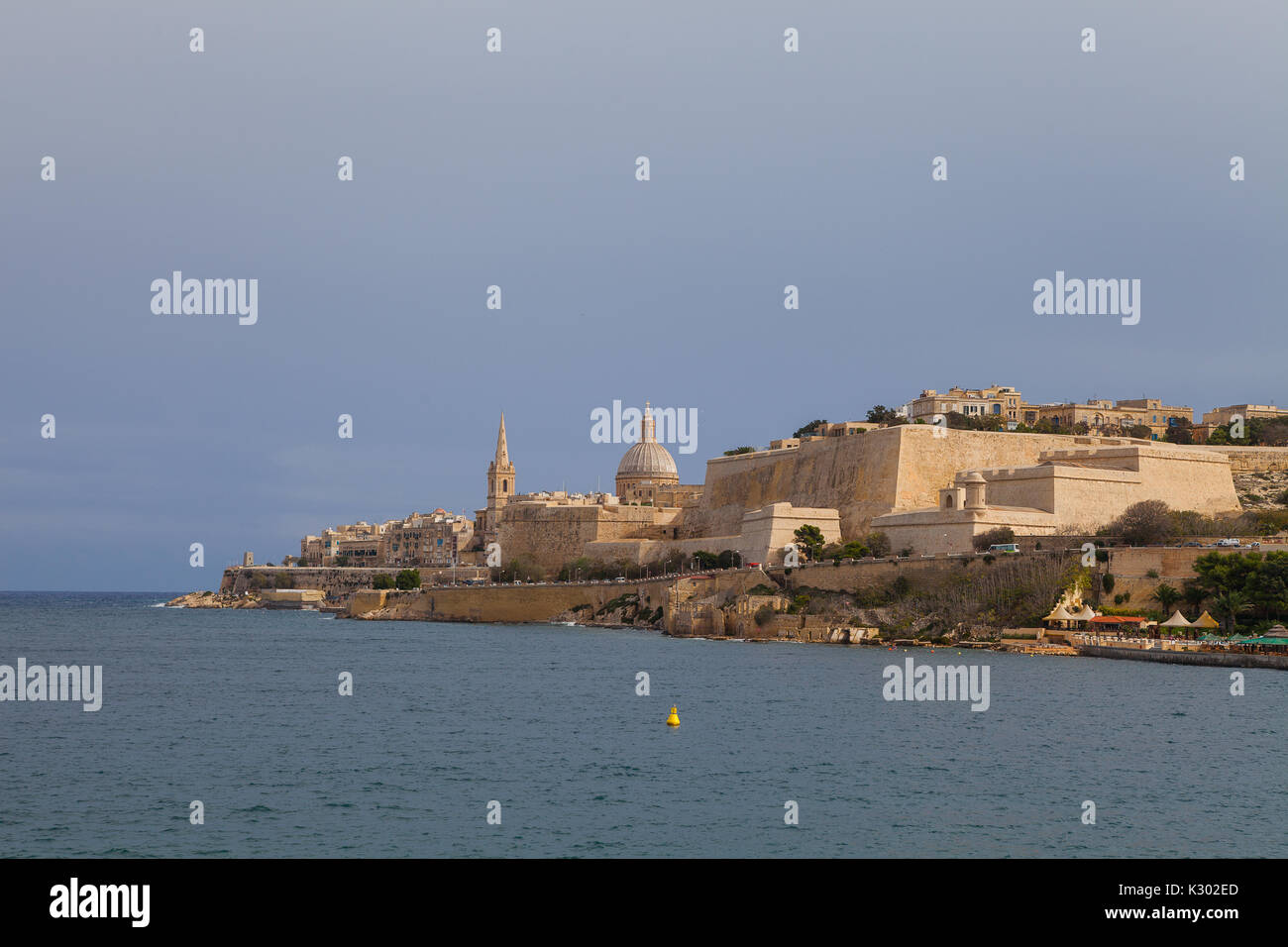 View on Valletta from the sea. - Stock Image