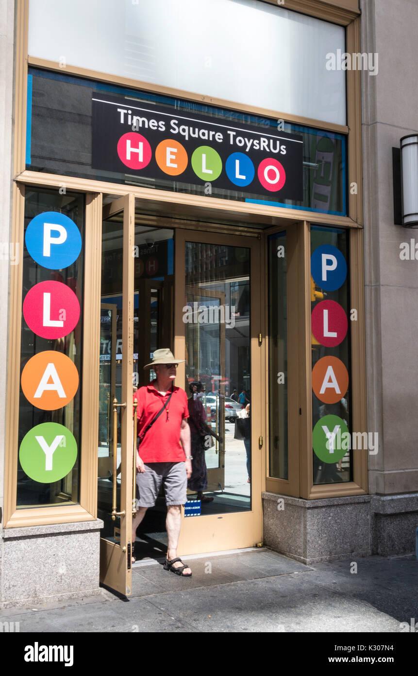 Times Square ToysRUs, NYC, USA - Stock Image