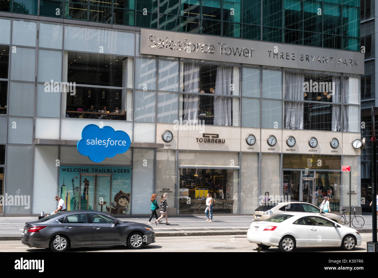 Salesforce Tower, 3 Bryant Park, on Sixth Avenue, NYC, USA - Stock Image
