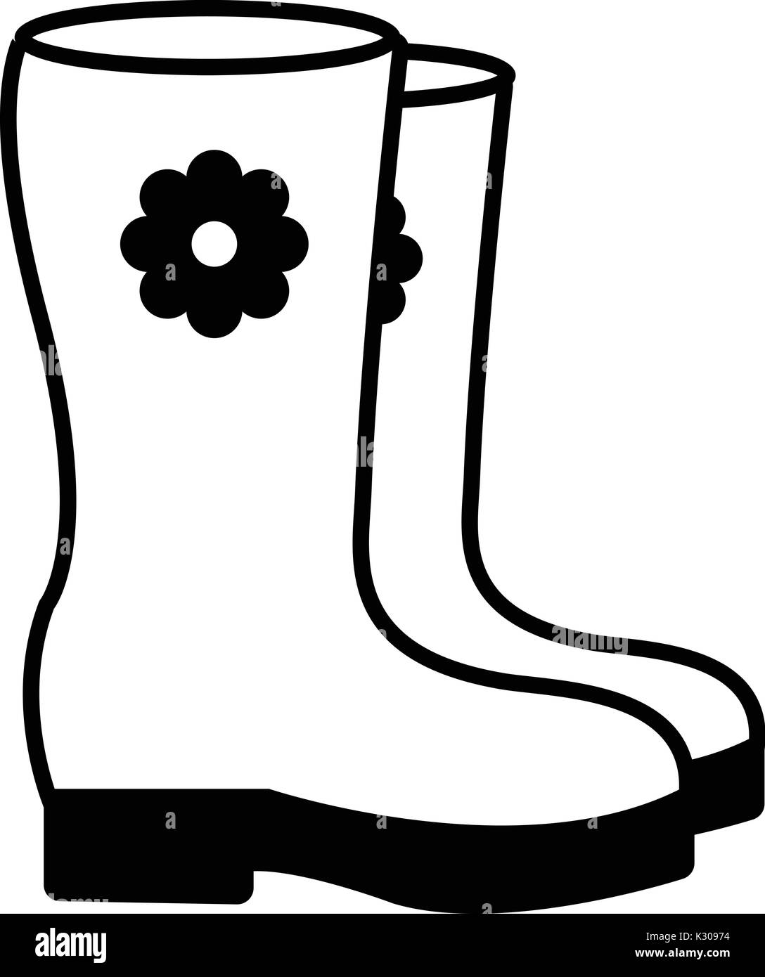 Boots icon , outline style Stock Vector Art \u0026 Illustration