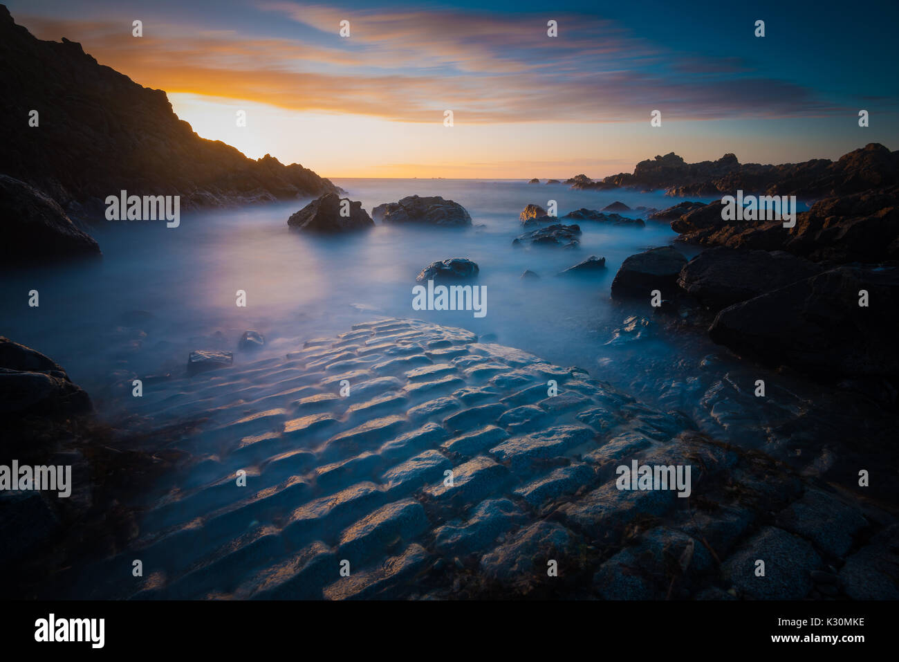 Sea views from Pleinmont, Bailiwick of Guernsey, Channel Islands, United Kingdom - Stock Image