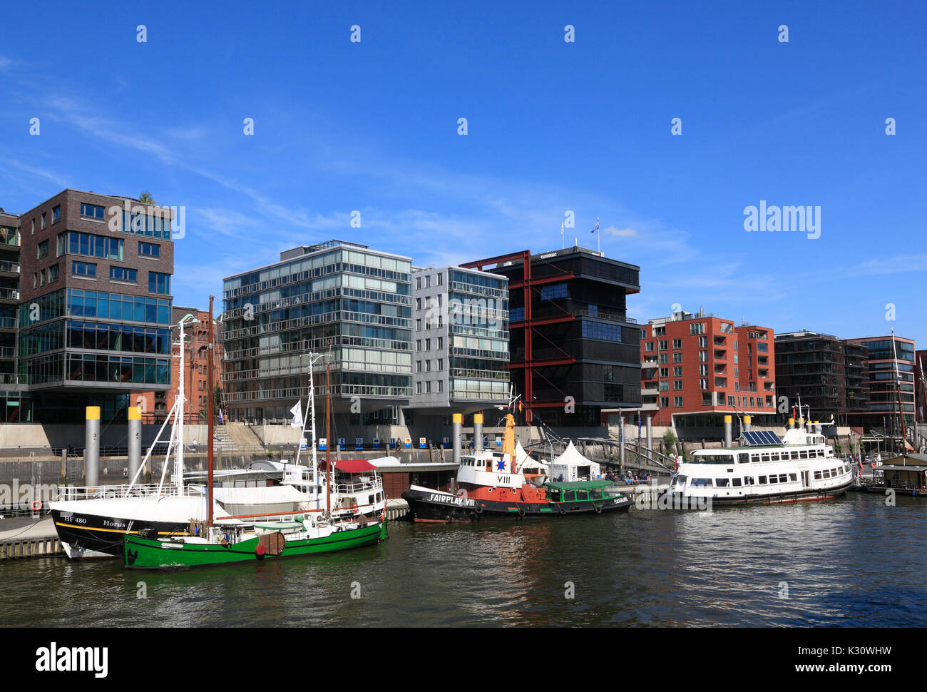 Hafencity, Hamburg harbor, Germany, Europe - Stock Image