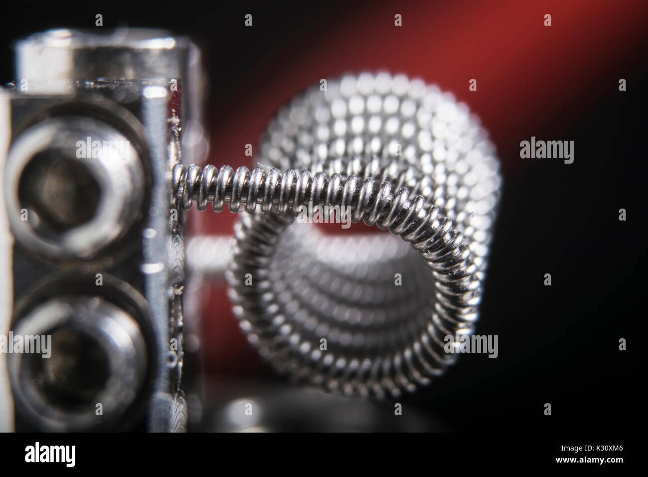 vaping clapton coil for electronic cigarette or e cig. - Stock Image