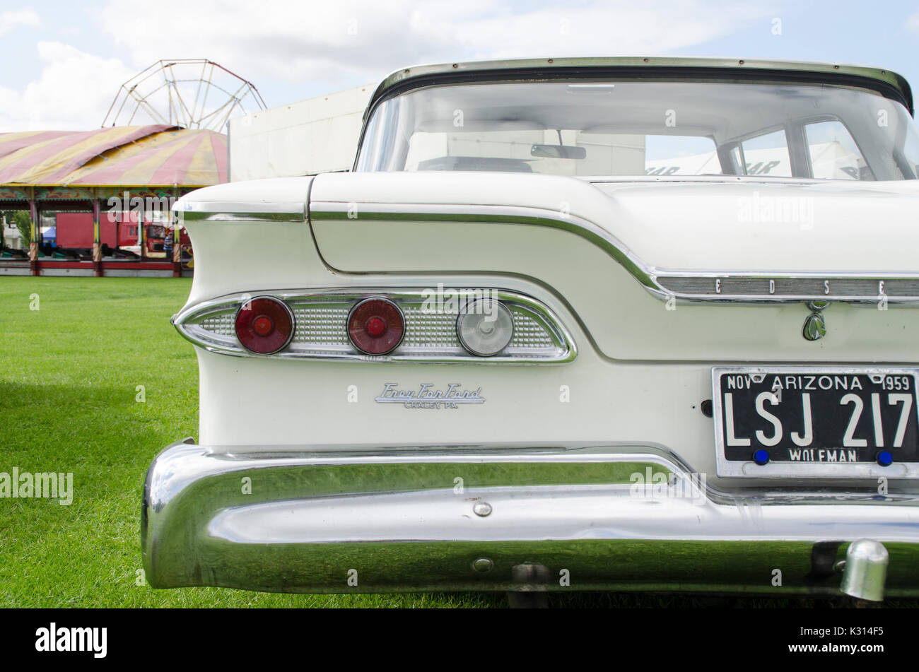 Classic cars at Atomic vintage festival. - Stock Image
