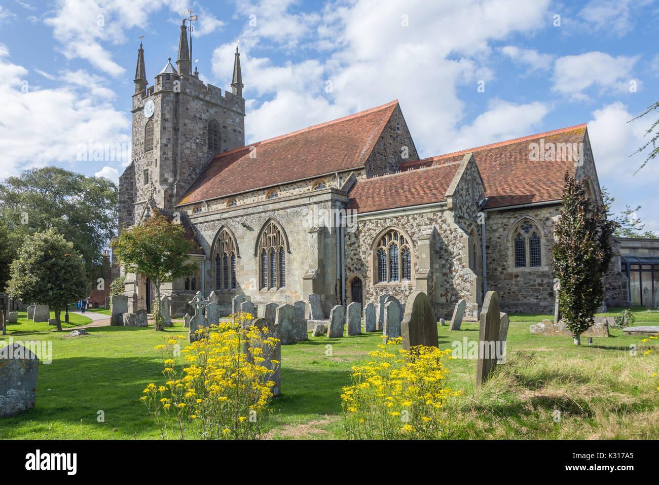 Hailsham Parish Church, Vicarage Road, Hailsham, East Sussex, England, United Kingdom - Stock Image