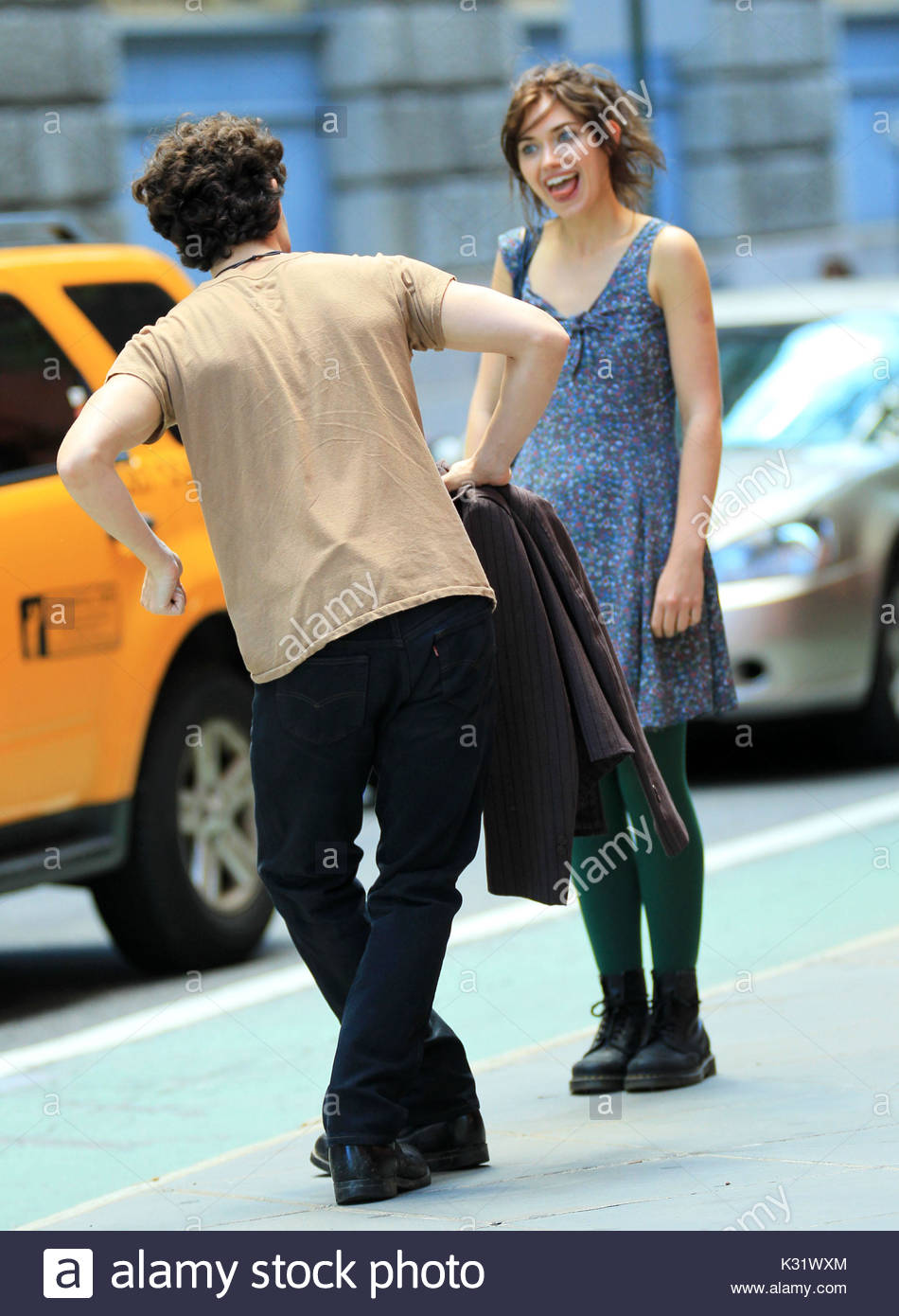 Penn badgley and imogen poots first shots of penn badgley filming first shots of penn badgley filming his new movie greetings from tim buckley with imogen poots in brooklyn ny per imdb greetings from tim buckley m4hsunfo