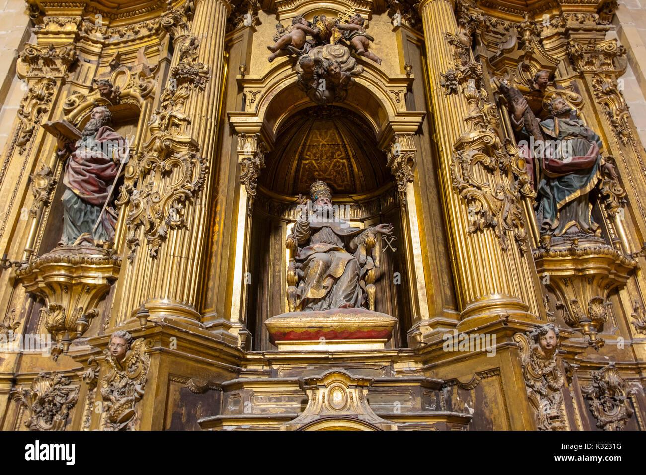 Santa María del Coro Basilica church, Baroque style, Old Town, San Sebastián, Donostia, Guipuzcoa, Basque Country, Spain Europe - Stock Image