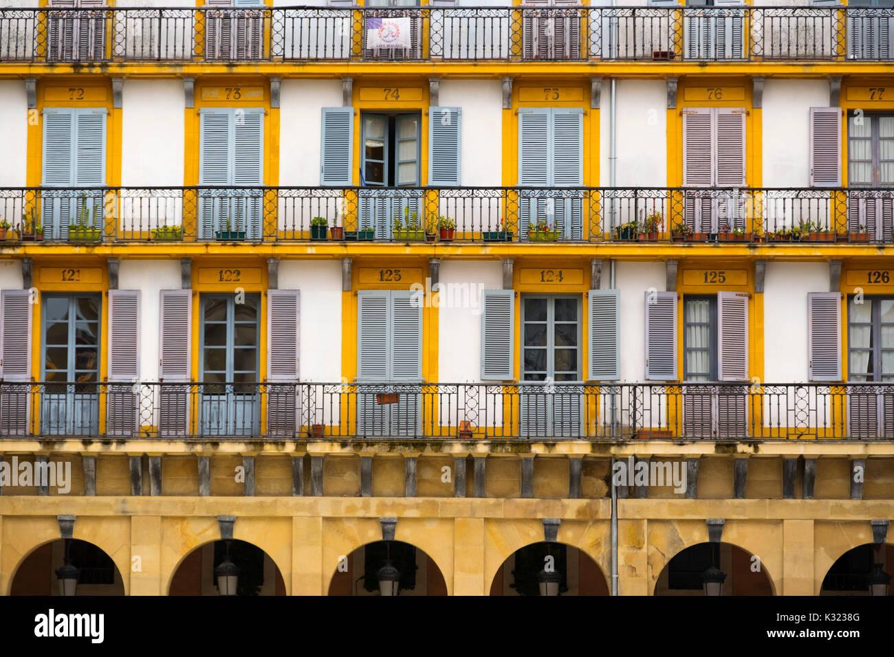Constitution Square. Plaza de la Constitucion. Donostia. San Sebastian. Gipuzkoa. Basque Country. Spain Europe - Stock Image