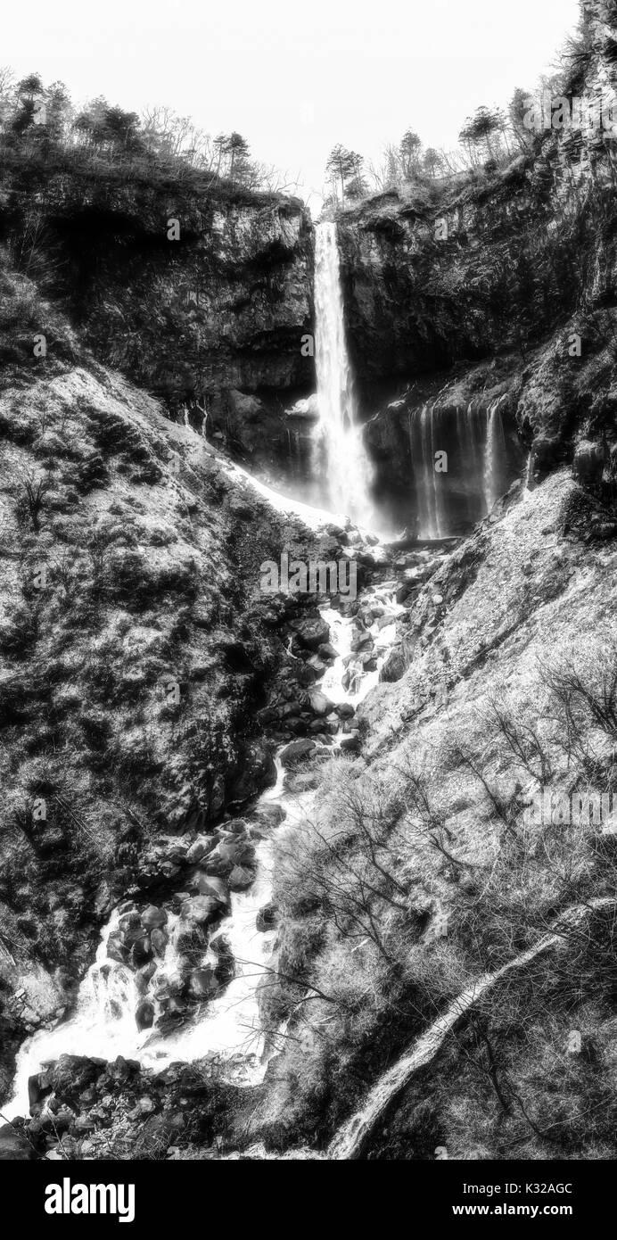 Kegon waterfall in Nikko, japan Stock Photo