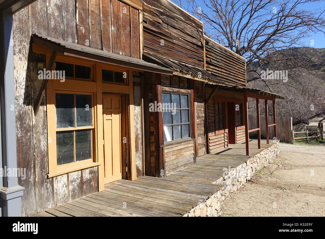 Paramount Ranch - This is the set for many a film and show especially those with a western theme. - Stock Image