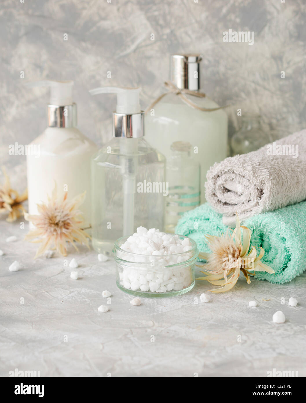 Bath Accessories Beauty Products On Stock Photos & Bath Accessories ...