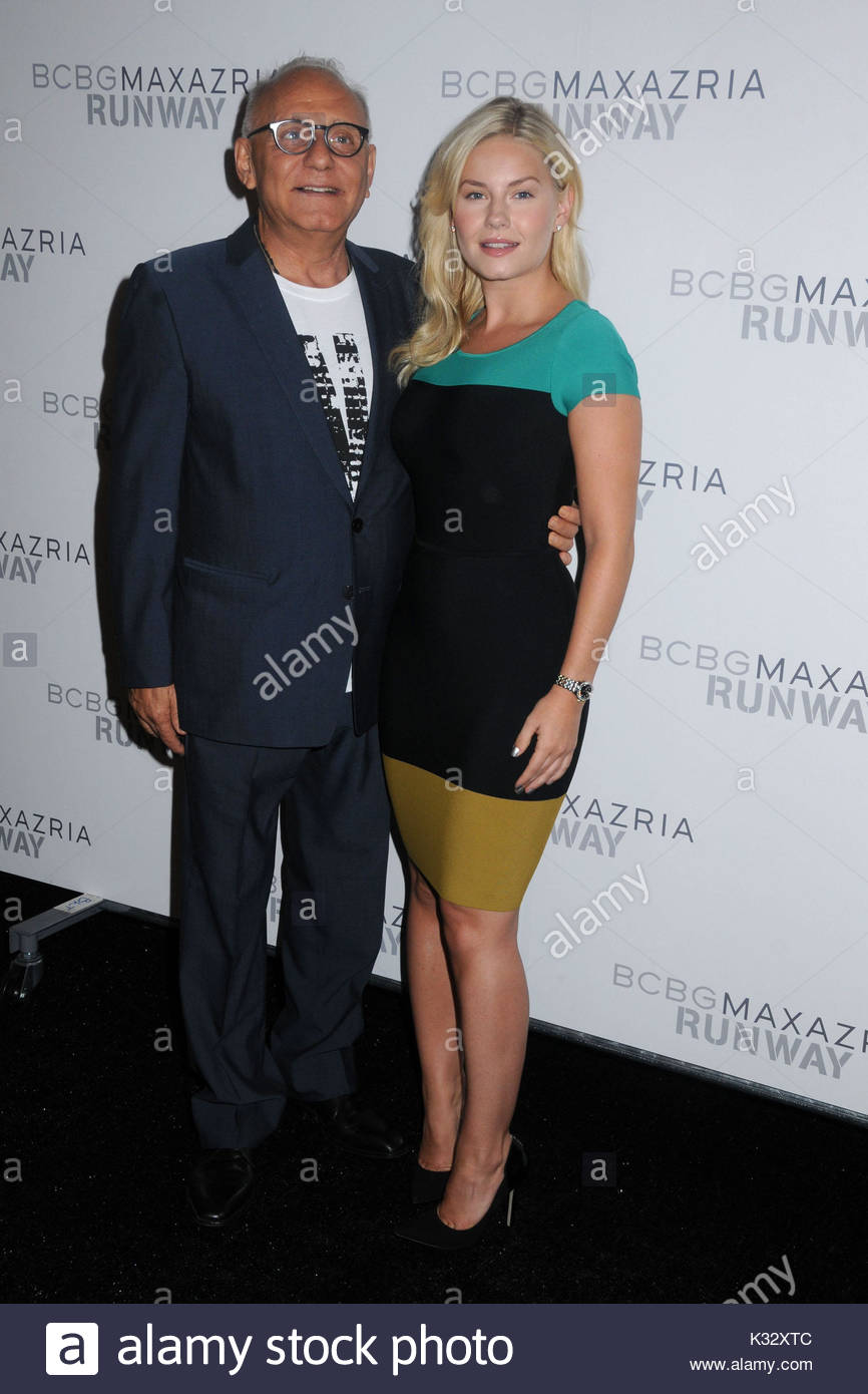 6ceef49175 Max Azria and Elisha Cuthbert. Fashion designer Max Azria greets his  celebrity guests backstage for the BCBGMAXAZRIA Spring 2012 Collection at  Mercedes-Benz ...