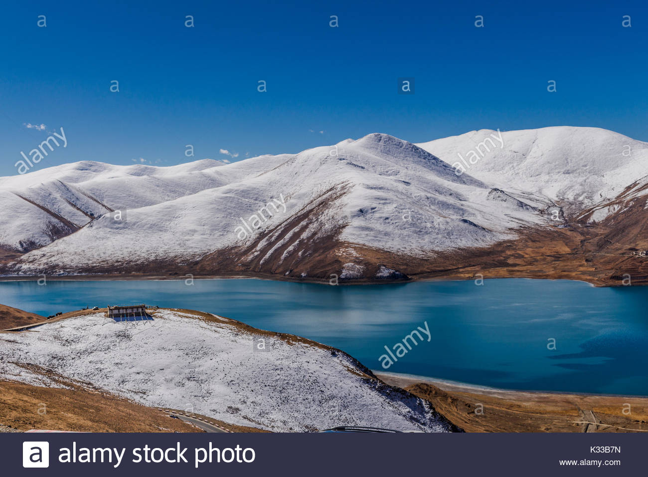Yamdrok Lake - Tibet - Stock Image