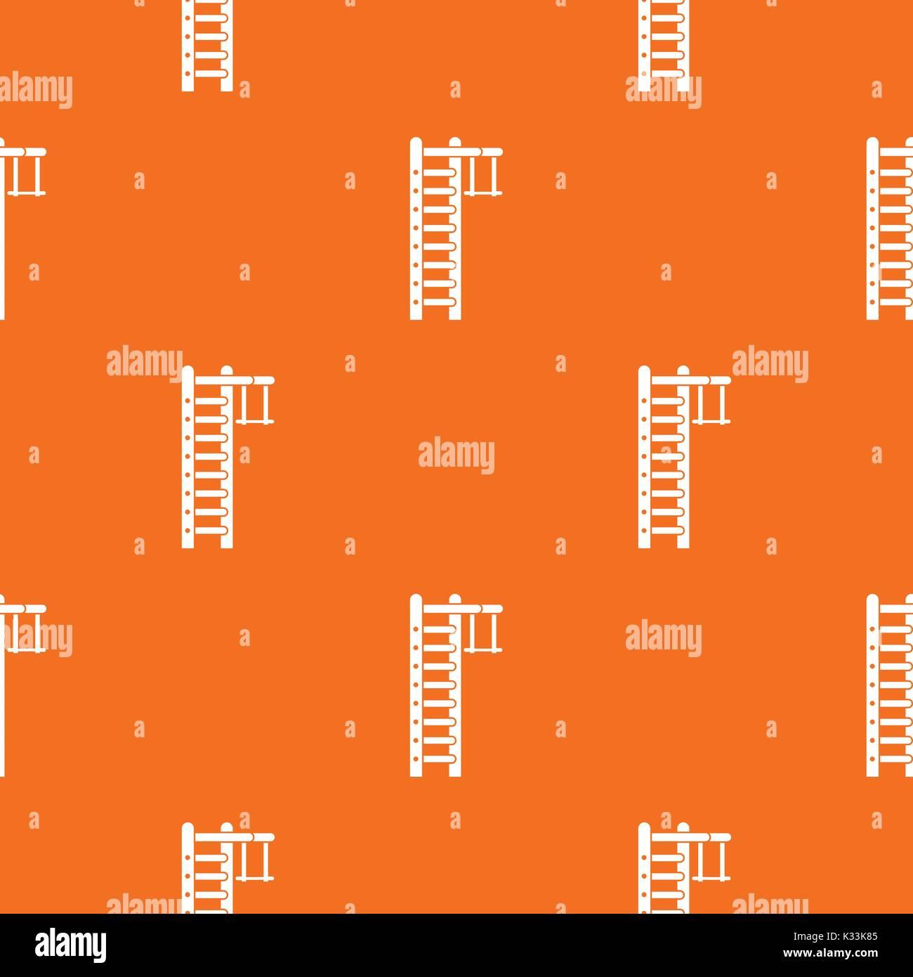 Swedish ladder pattern seamless - Stock Image
