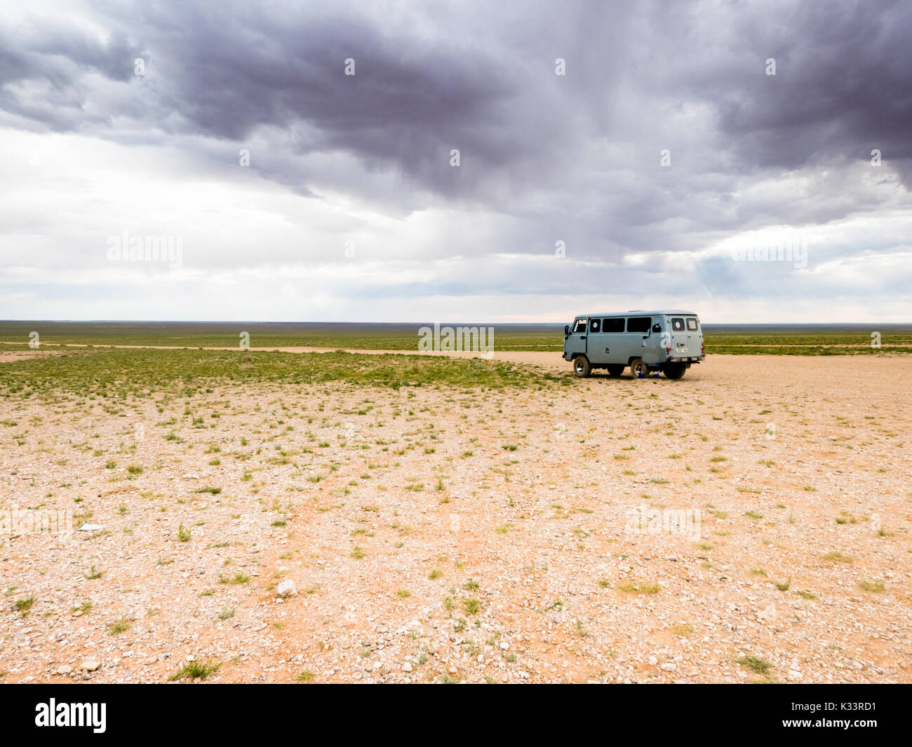 Adventure travel in Mongolia desert of Gobi - Stock Image