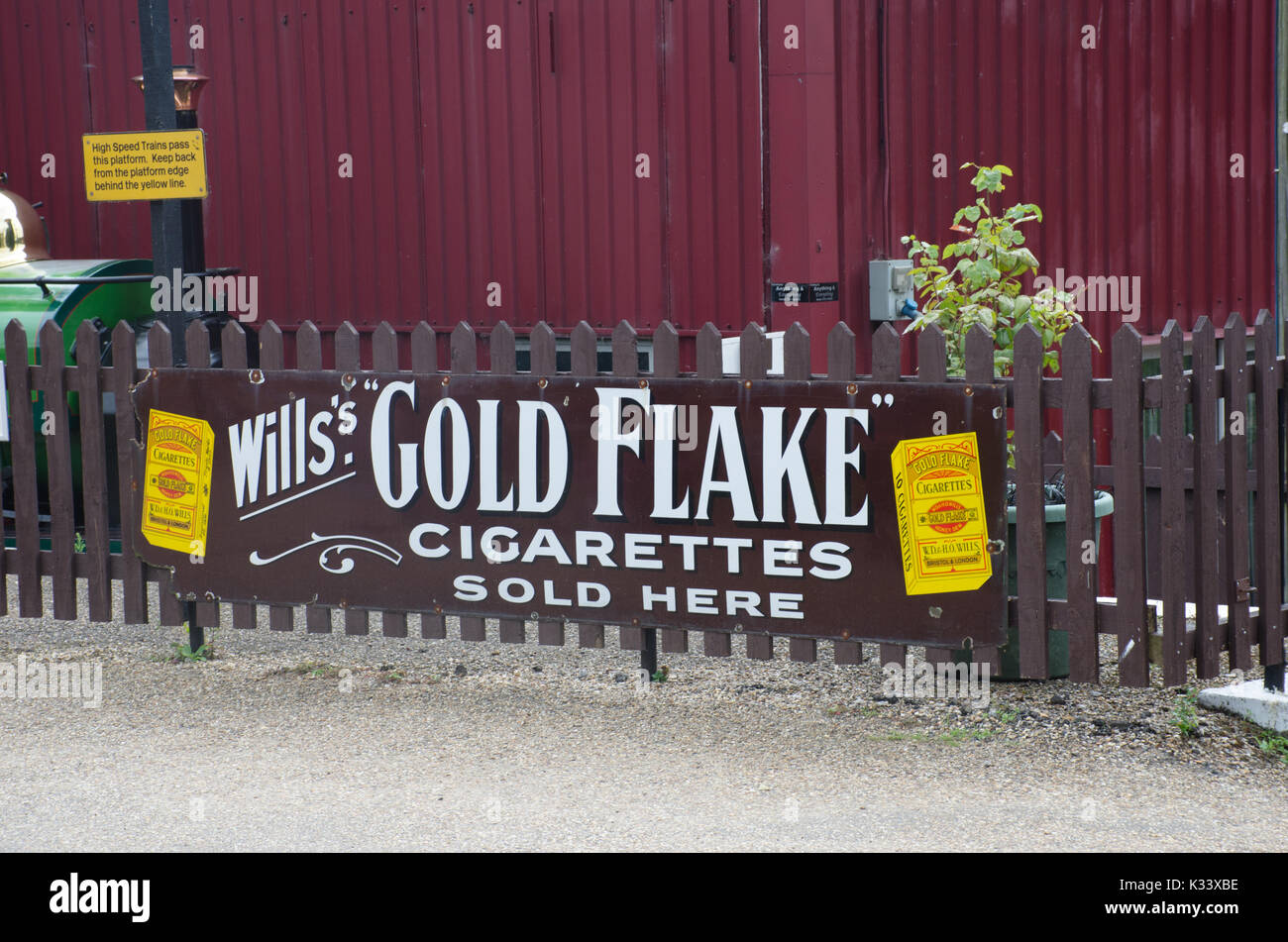 Norfolk  United Kingdom   August  21 2017: Vintage Goldflake cigarette advertising sign - Stock Image