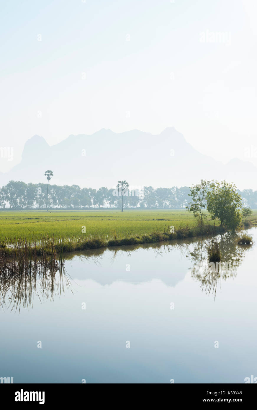 Landscape near Hpa-an, Kayin State. Myanmar, Asia Stock Photo