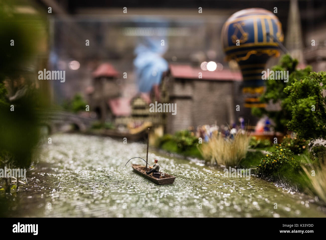 A visit inside the Miniatur Wunderland the largest model railway in the world Hamburg Northern Germany Europe - Stock Image