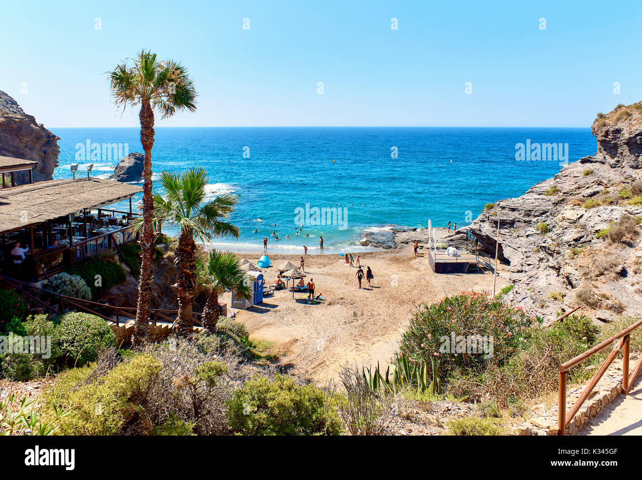 Picturesque Cala del Barco beach. Cartagena, Costa Blanca. Spain Stock Photo