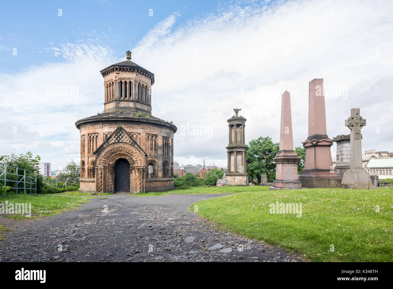 Glasgow Necropolis monuments grave - Stock Image