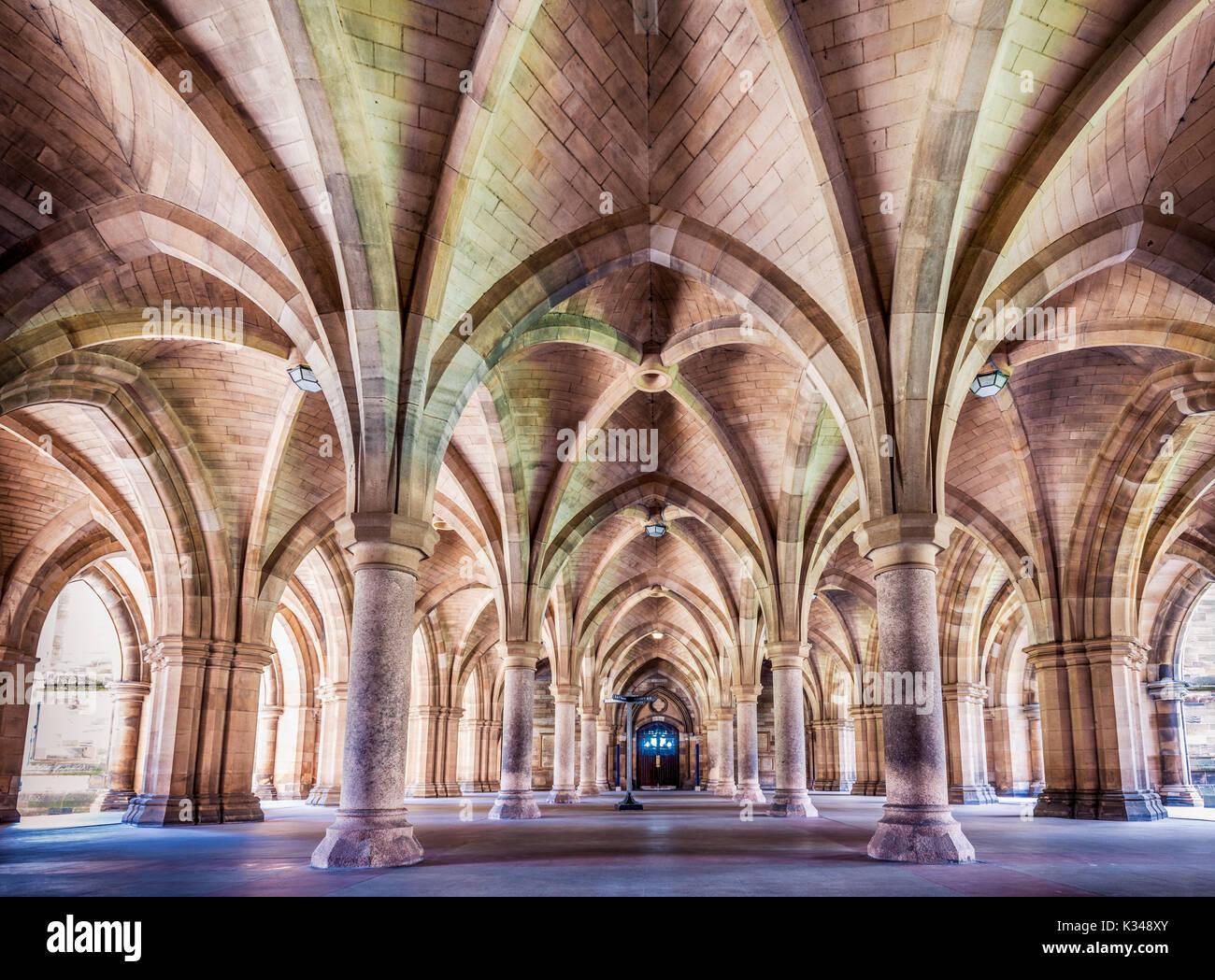 Stunning entrance at Glasgow Univercity - Stock Image