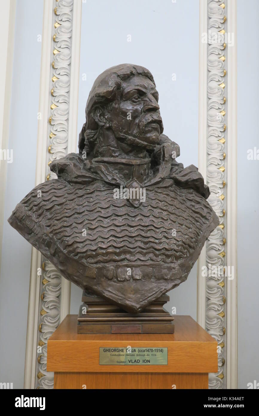 Bust of Gheorghe Doja, Gyorgy Dozsa, a soldier of fortune in