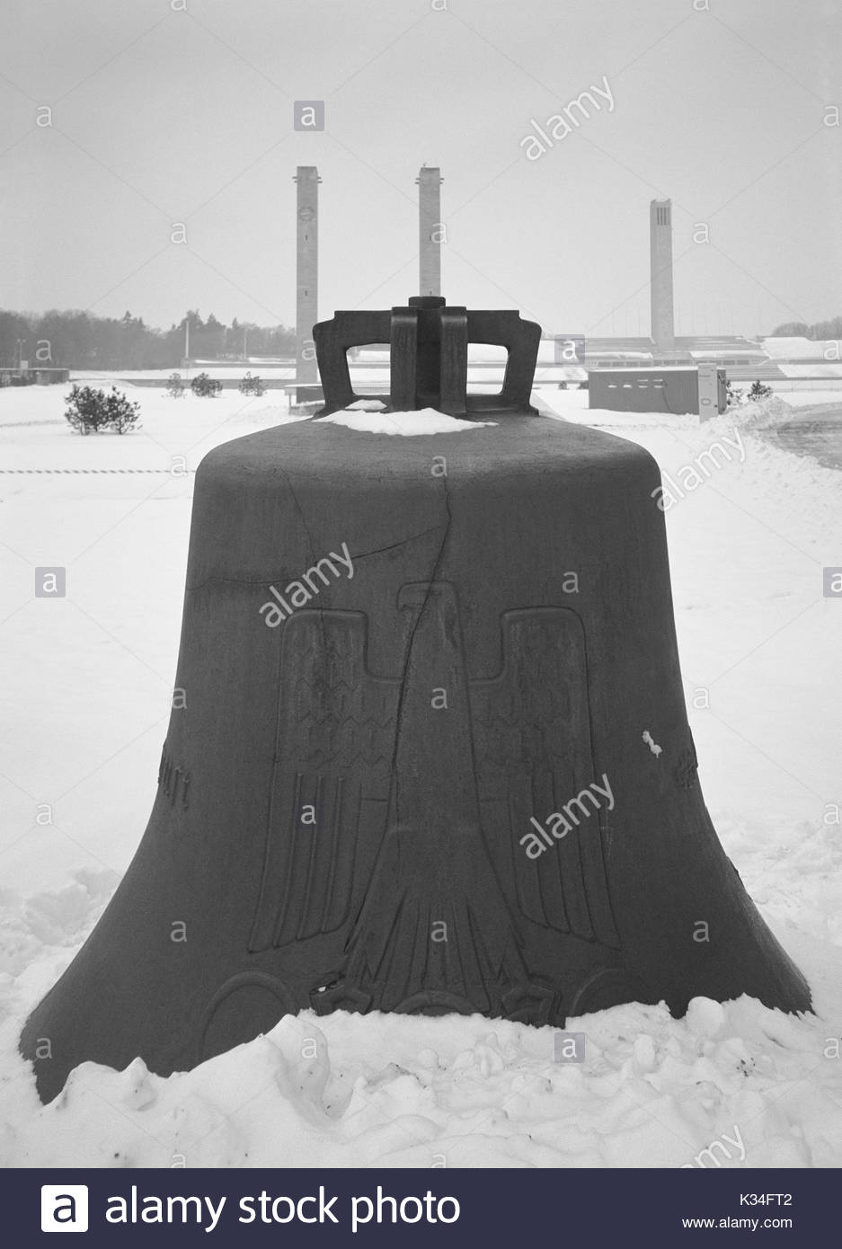 Memorial Bell from 1936 Olympics dedicated to all War Dead, Berlin, Germany - Stock Image