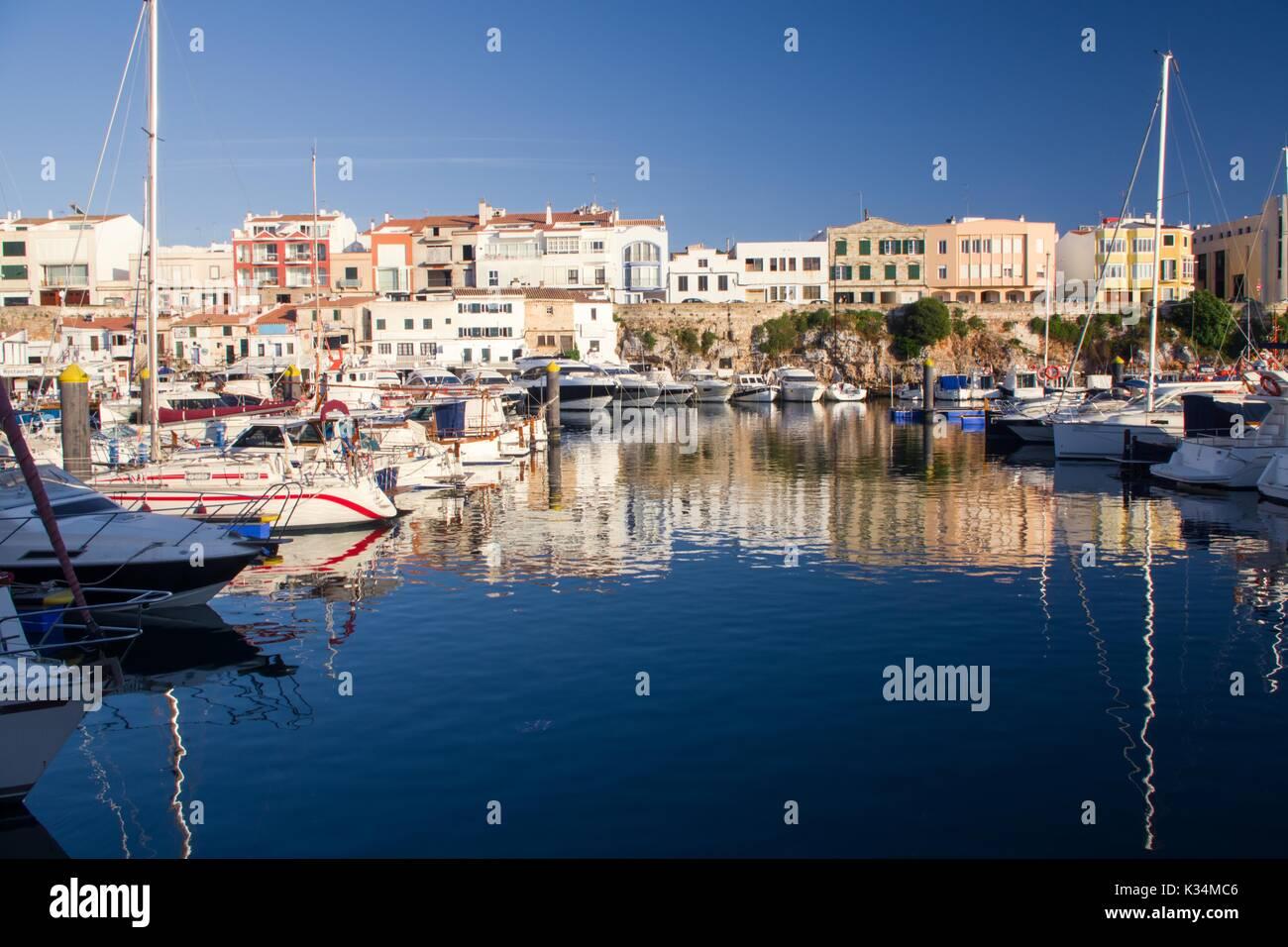 Ciuatadella marina, Menorca, Spain - Stock Image