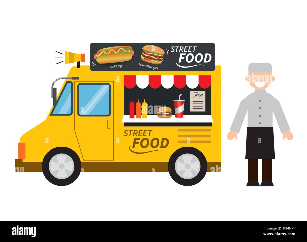 Food Truck Cut Out Stock Images Pictures Alamy