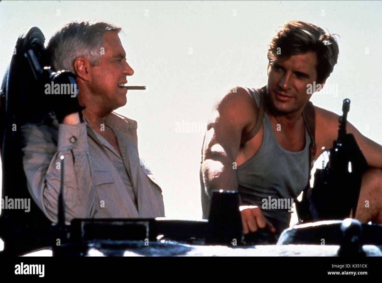 THE A TEAM GEORGE PEPPARD DIRK BENEDICT