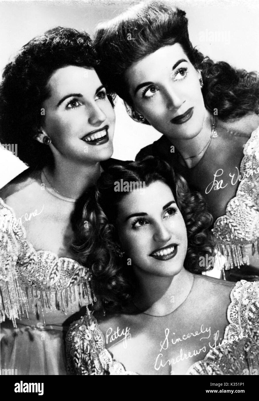 the andrews sisters stock photo 156848441 alamy