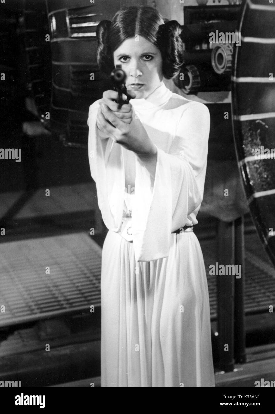 Photo Must Be Credited ©Supplied by Alpha 070000 (1977) Carrie Fisher as Princess Leia in Star Wars movie - Stock Image