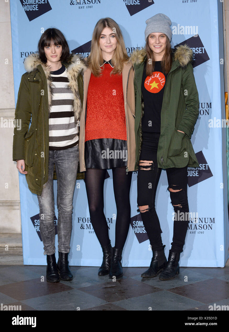 Photo Must Be Credited ©Alpha Press 078237 16/11/2016 Sam Rollinson, Eve Delf and Charlotte Wiggins Skate 2016 Launch Party At Somerset House London - Stock Image