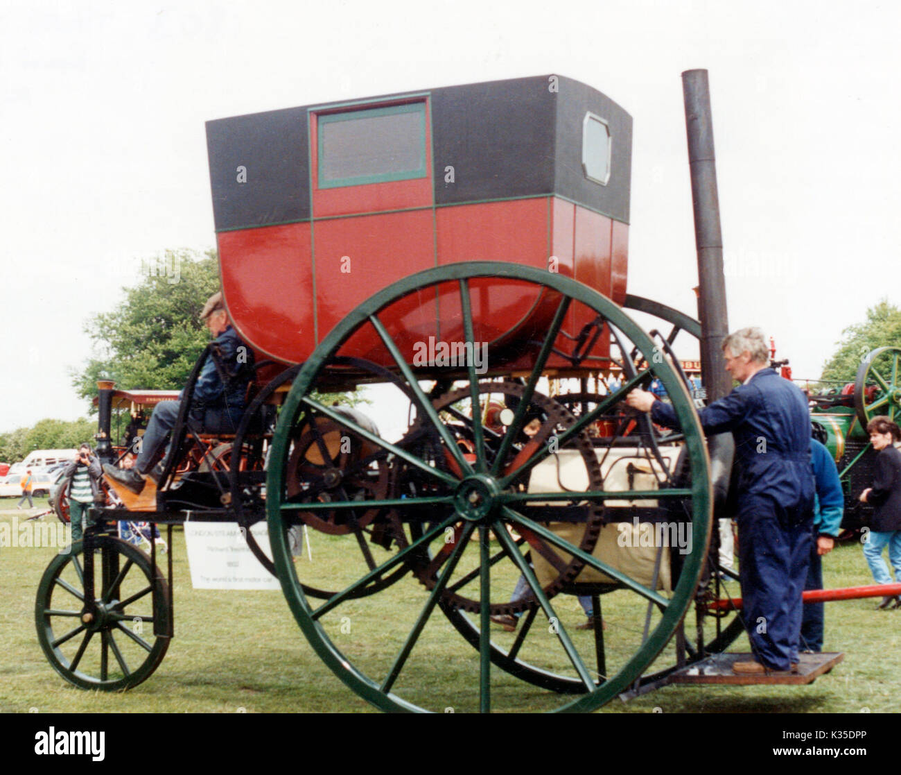 1803 Trevithick steam carriage replica - Stock Image