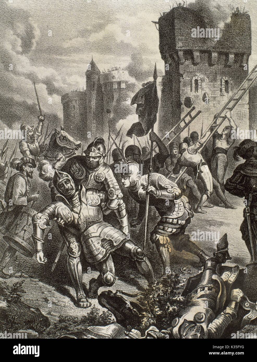 War of the League of Cognac (1526-1530). Sack of Rome on