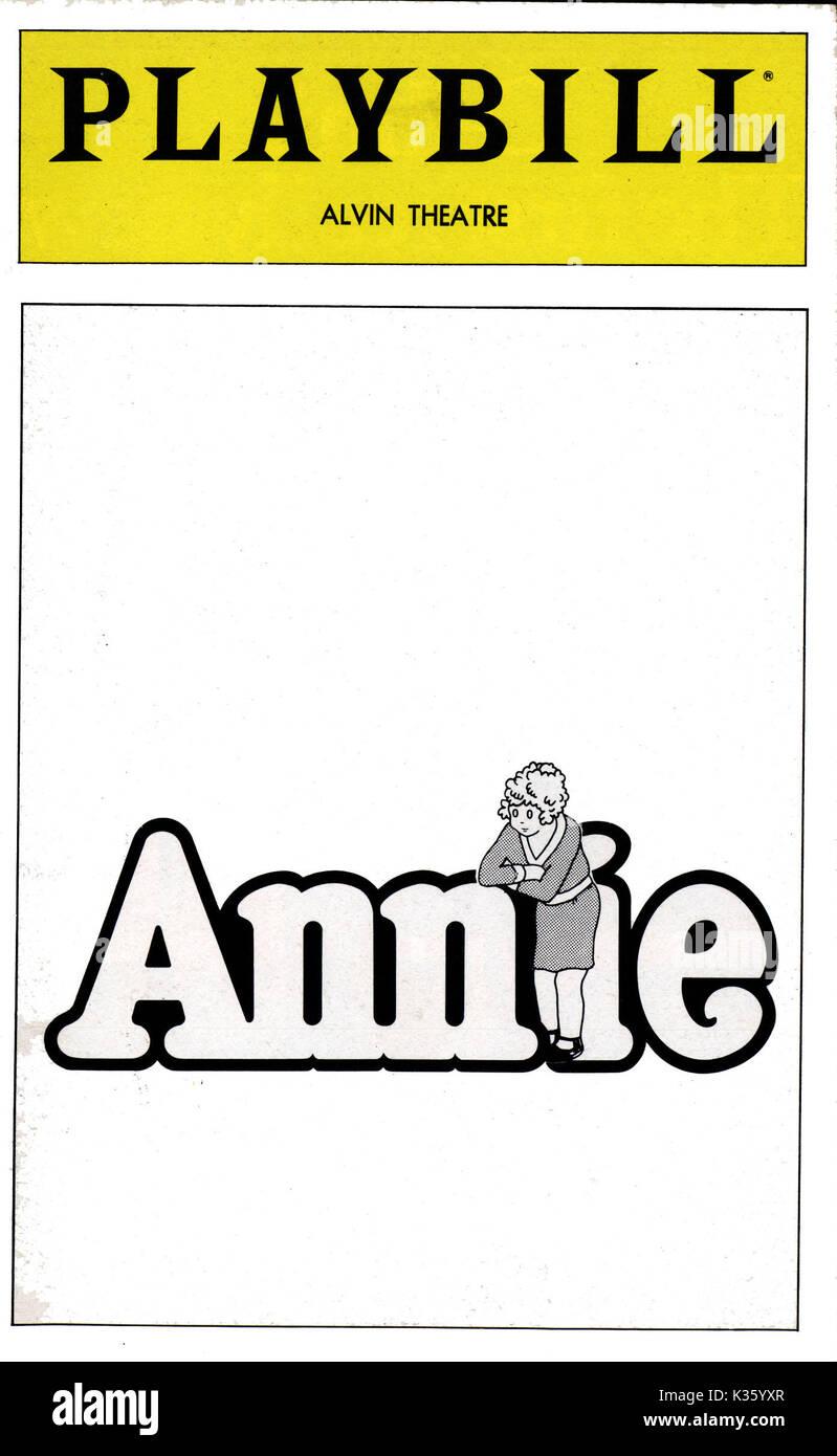 ANNIE THEATRE PROGRAMME - Stock Image