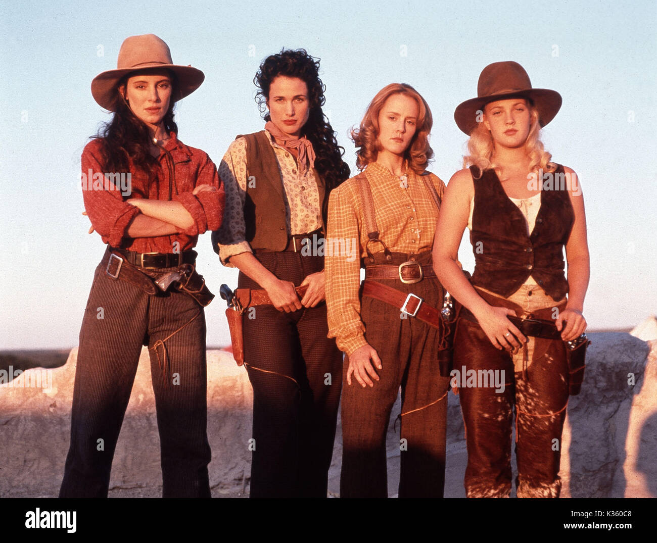 BAD GIRLS L-R MADELEINE STOWE, ANDIE MACDOWELL, MARY STUART MASTERSON, DREW BARRYMORE Stock Photo