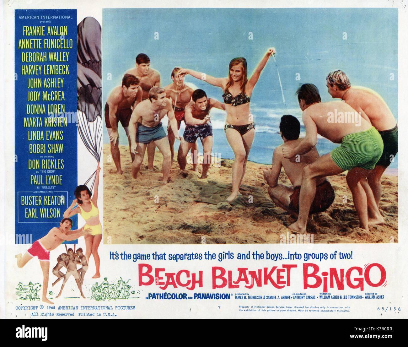 313b64c0dbfc BEACH BLANKET BINGO Date  1965 Stock Photo  156869659 - Alamy