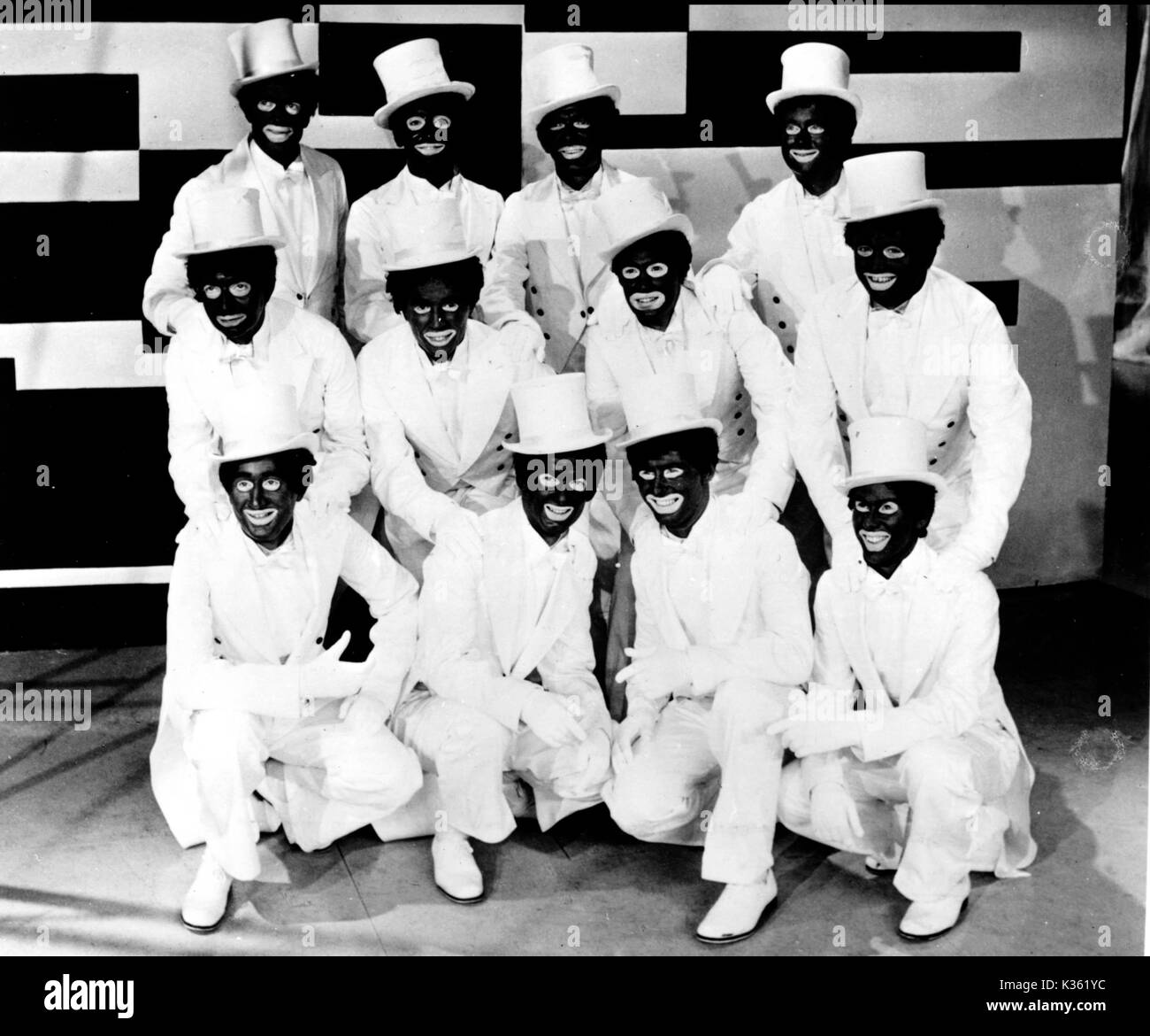 The black and white minstrel show stock image