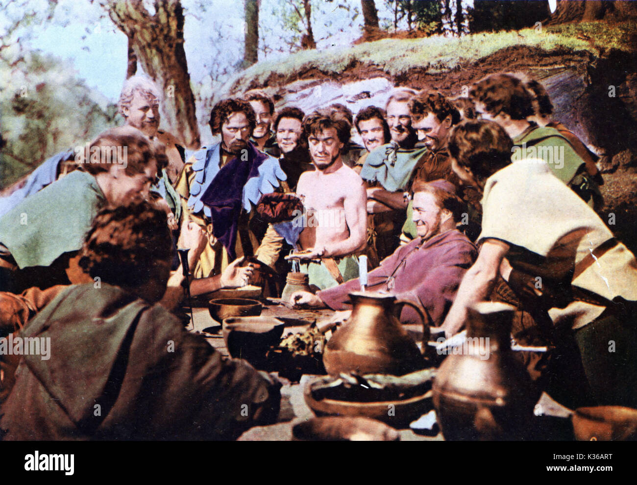 THE STORY OF ROBIN HOOD AND HIS MERRIE MEN JAMES HAYTER AS FRIAR TUCK A DISNEY FILM     Date: 1952 - Stock Image